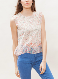 stradivarius cutwork flower top