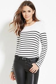 navy long sleeve top