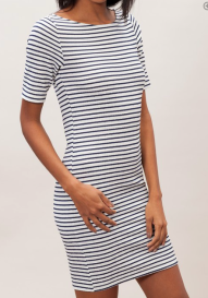 Stradivarius striped tube dress