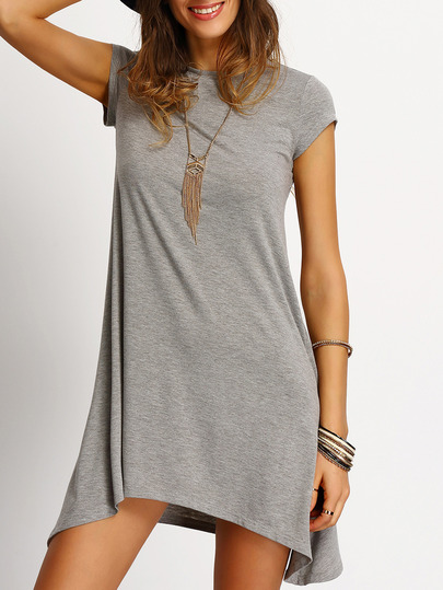 grey_asymmetric_hem_casual_shift_dress