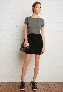 knit mini skirt for winter