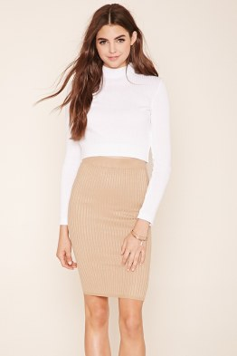 knit mini skirt for winter
