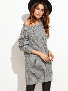 Knit sweater for cold weather