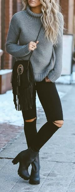 winter sweater outfit