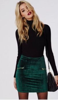 skirt winter outfit