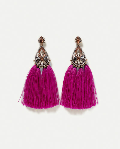 top 10 spring accessories pink tassel earring