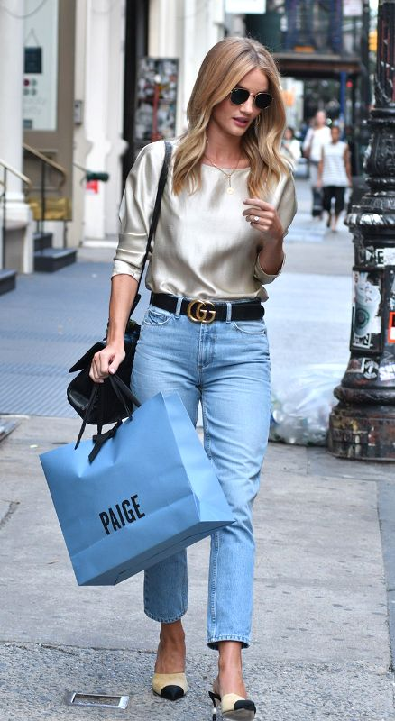 rosie huntington casual street style