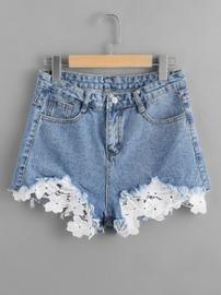 chrochet jeans shorts