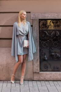 between brand grey dress outfit