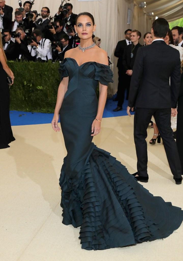 katie holmes zac posen dress met gala 2017