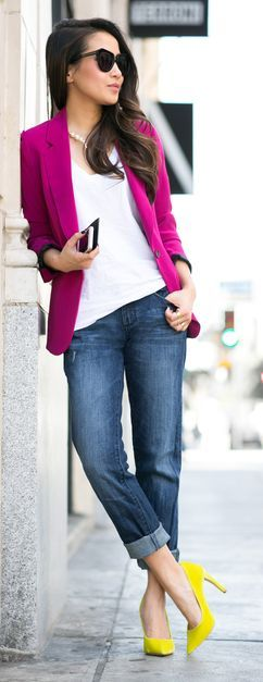 spring outfit with boyfriend jeans