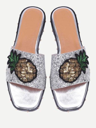 ananászos flitteres papucs