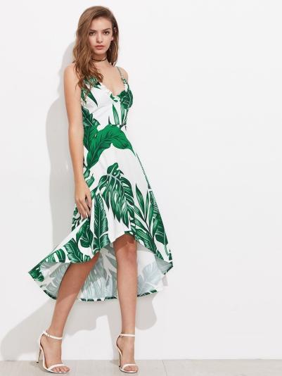 levél mintás nyári ruha