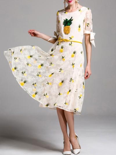 ananászos nyári ruha