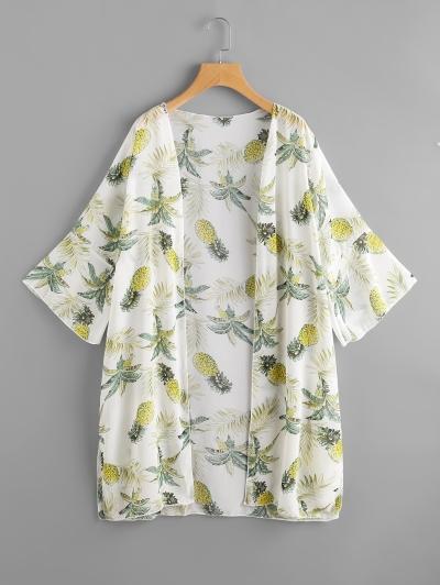 ananász mintájú kimono