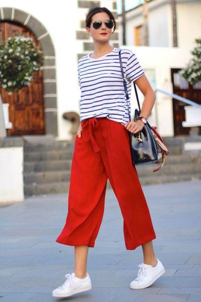piros nyári nadrág