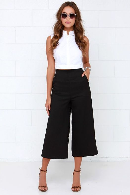fekete culottes
