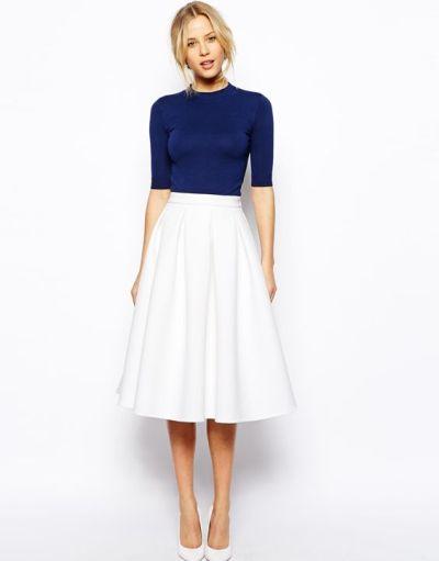 kék fehér outfit