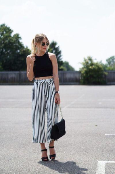 csíkos nyári nadrág