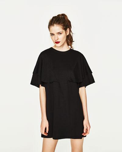 fekete zara ruha