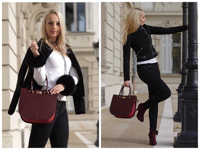 livia ippi téli outfit look divatos kiegészítők