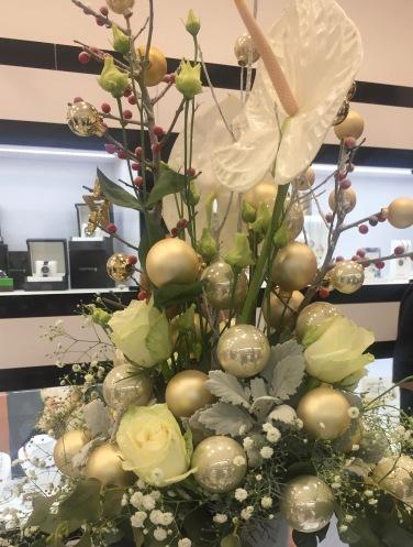 virág dekoráció karácsonyi dísz