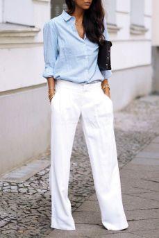 fehér bőszárú nadrág