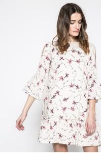tavaszi virágos fodros ruha