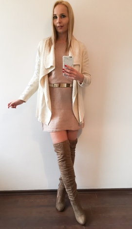 téli kötött ruha