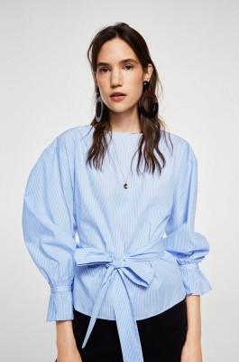 megkötős kék női ing