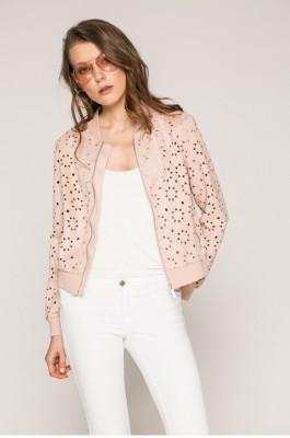 pasztell rózsaszín tavaszi bomber kabát