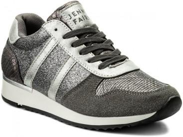 kényelmes ezüst sportcipő utcai cipő