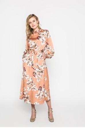 virágmintás szatén ruha