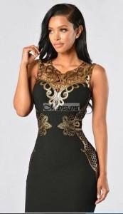 fekete arany alkalmi ruha koktélruha