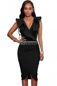 fodros fekete alkalmi ruha
