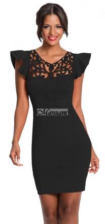 modern csipkés kis fekete ruha lbd