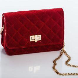 piros bársony táska divat