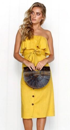 különleges sárga nyári ruha 2018