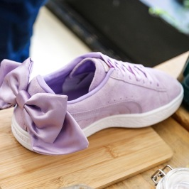lila puma suede bow cipő