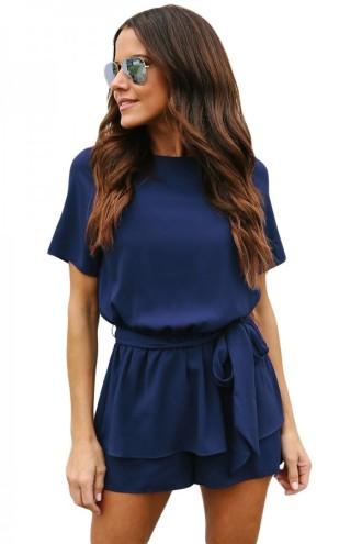 kék rövidujjú nyári ruha 2018