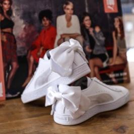 fehér puma suede bow női cipő