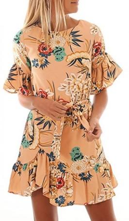 virágos fodros nyári ruha