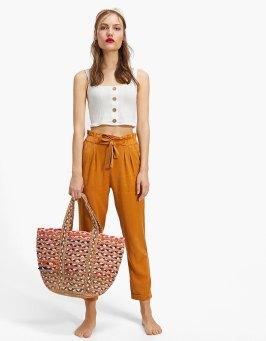 színes raffia táska strandtáska
