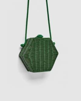 hatszög alakú kemény bambusz táska zara
