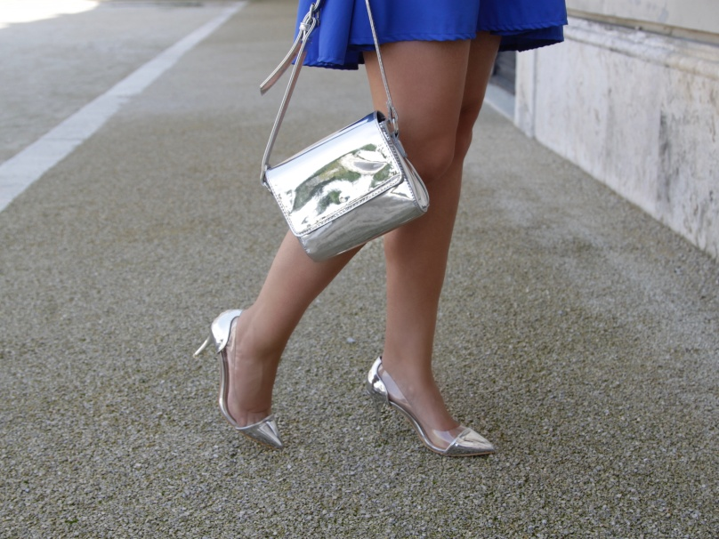 ezüst answear cipő