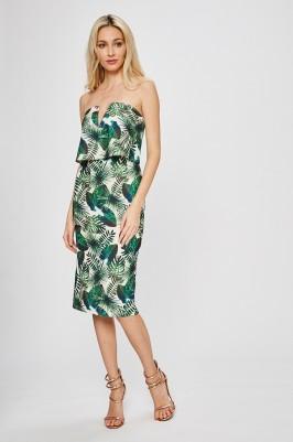 trópusi mintás nyári ruha