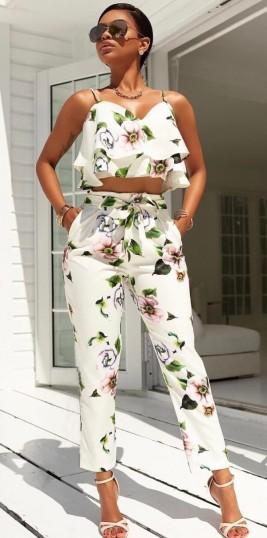 virágos kétrészes nyári ruha