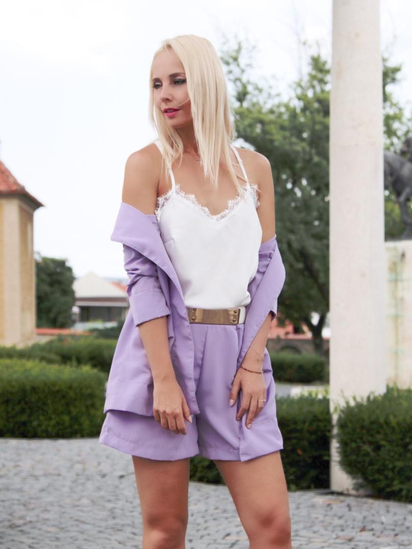 lila blézer