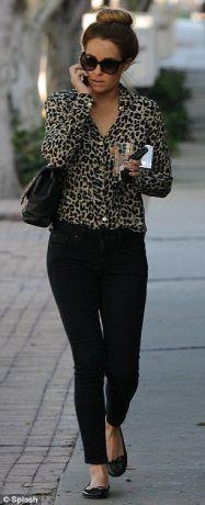 leopárd mintás ing outfit