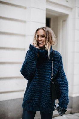 kényelmes nagy kötött pulcsi